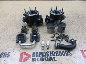 2006 06 Yamaha Banshee YFZ350 YFZ 350 Engine Cylinders Top End Jugs Pistons