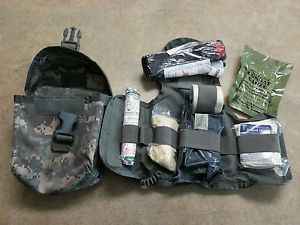 New USGI Military IFAK Improved First Aid Kit Medic Medical ACU Pouch Exp 2015