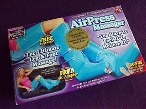 Airpress Massager Leg Foot Air Compression Leg Foot Wraps System as Seen on TV