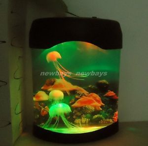 Magic x'mas Gift Colorful LED Light Electronic Toys Jellyfish Aquarium Fish Tank