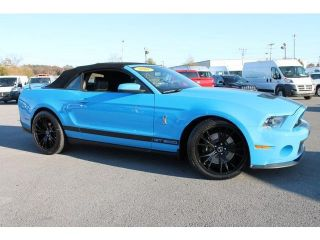 2011 Ford Mustang Shelby GT500 Certified 6 Speed Convertible 5 4L V 8 Blue Nav