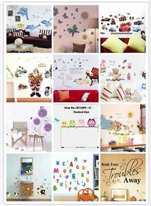 Cartoon Stickers Wall Decal Sticker Removable Wall Paper Home Decor Mural Art