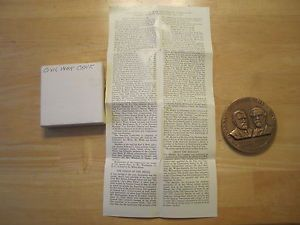 Civil War Centennial Commission Bronze Medal Medallic Art Co Box Papers