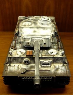 Custom 1 16 German Tiger 1 Early Production Snow Camo RC Heng Long Battle Tank