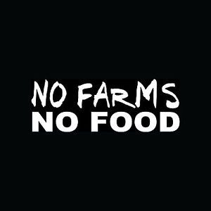 No Farms No Food Sticker Car Window Vinyl Decal Dairy Meat Raise Animals Crops