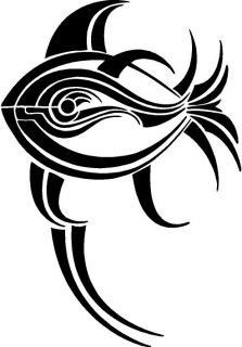 Tribal Fish Vinyl Decal Car Truck RV Signs Trailer Window Sticker 142 20