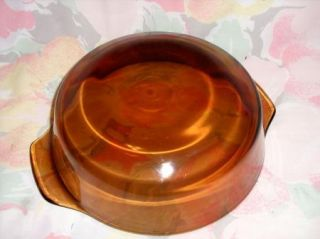 Vintage Anchor Hocking Fire King Amber Casserole Dish Pan Bowl 1 5 Qt 437
