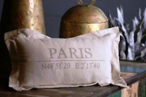 Shabby Vintage Style Chic Paris Flea Market Pillow