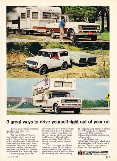 1969 International Travelall Scout Pickup camper Ad