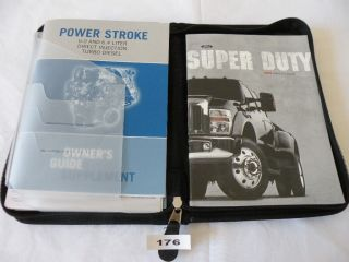 08 Ford Super Duty 6 0L 6 4L Diesel Owners Manual Set