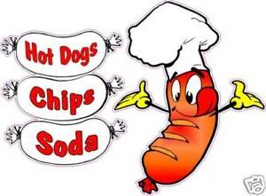 Hot Dogs Combo Restaurant Concession Food Decal 14""