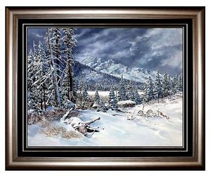 Tom Beecham Original Oil on Board Painting Signed Western Art Illustrator Ranch