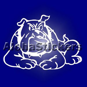 Sitting Bulldog Vinyl Decal Car Truck Auto Sticker B19