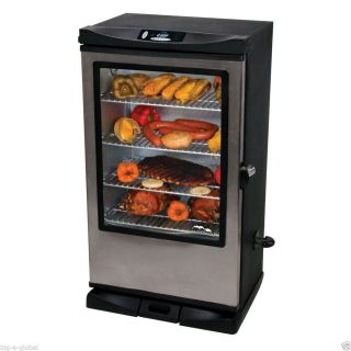 "Masterbuilt 40"" Wheeled Electric Digital Smokehouse BBQ Meat Food Smoker Grill"