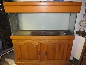 Classic Oak Fine Aquarium Fish Tank 55 Gallon Tank