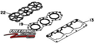 Yamaha Exciter Wave Raider Venture 1100 Watercraft Top End Engine Gasket Kit New
