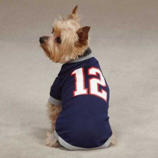 Dog Pet Puppy Tom Brady Patriots 12 Tee Shirt Clothes Apparel Pajamas NFL Jersey