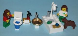Lego Bathroom Sink Toilet Bathtub Shower Friends 10218 Pet Shop Faucet Tub Dog