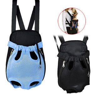 Nylon Pet Dog Carrier Backpack Net Bag Any Legs Out Front Style Durable 2 Color