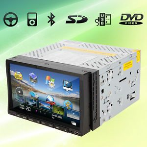 Auto GPS SAT Navigation System 2 DIN in Deck Car DVD Player Touch Screen Stereo