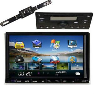 Double 2Din Car GPS DVD Player Auto CD  iPod TV Radio Bluetooth Stereo Camera