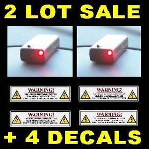 Lot Fake Car GPS Tracking Devices LEDs Warning Stickers