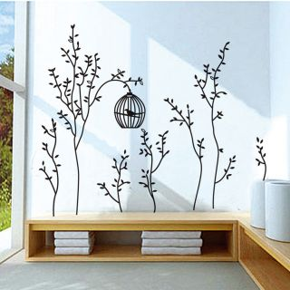 Vinyl Removable Wall Stickers Decor Art Mural Decal Black Tree Branch Birds