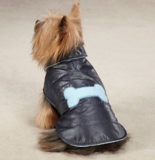 Dog Coat Jacket Snow Puff Vest Pink Raspberry Blue Navy Casual Canine