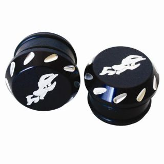 Dragonfire Racing Tube End Caps Billet Aluminum 1 1 2 inch Black Universal