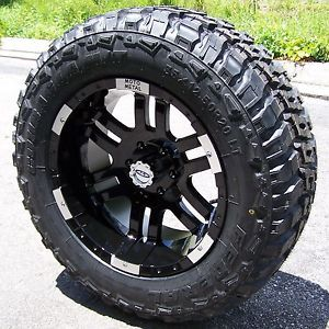 "20"" Black Moto Metal 951 Wheels 35"" Federal M T Tires Ford F150 FX4 FX2 Ecoboost"