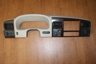 03 07 Ford F250 F350 King Ranch Dash Trim Cluster Radio Bezel Tan Wood Switches