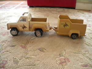 Vintage 1979 Tonka Truck and Horse Trailer