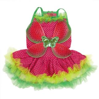 Zack Zoey Watermelon Fairy Dog Halloween Costume Pet Costumes XS XL