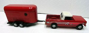 Vintage Ertl International Pick Up Truck with Horse Trailer Made in The USA
