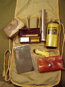 WWII WW2 US Army US Military Personal Grooming Kit Toiletry Kit Components