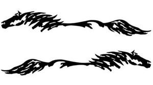 Mustang Horse Pony Decal Truck Trailer Car 10x58