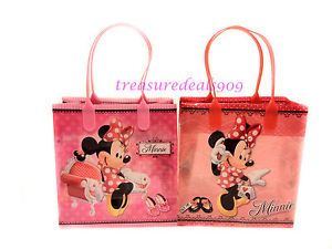 12 PC Disney Minnie Mouse Goodie Bags Party Favors Candy Loot Treat Birthday Bag