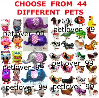 Lot of 25 Walking Pet Balloons Happy Birthday Baby Shower Free Priority Shipping