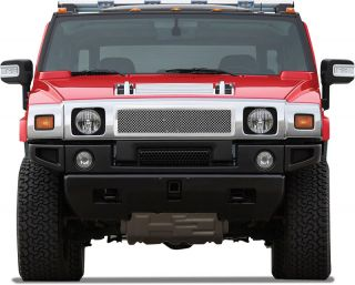 Hummer H2 Mesh Grille Grill Insert Chrome Stainless Steel 1pc Upper