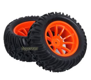 4pcs RC Rubber Sponge Tires Tyre Wheel Rim HSP 1 10 Monster Bigfoot Truck 88009