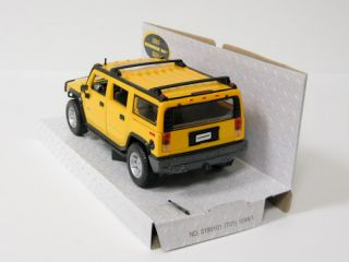 2003 Hummer H2 Diecast Model Car SUV Yellow Maisto 1 27 Scale Special Ed