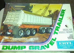 Ertl Gravel Semi Truck Trailer Model 1 25 Scale