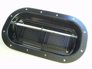 "8""x12"" Black Metal Two Way Popup Horse Trailer Vent"