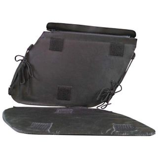 New 2pc Black Motorcycle Saddle Bag Set Rain Covers Moped Scooter Fits Yamaha