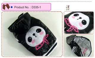 Dog Cat Clothes Puffy Jackets Kungfu Panda Puffer Hoodie Coats D335