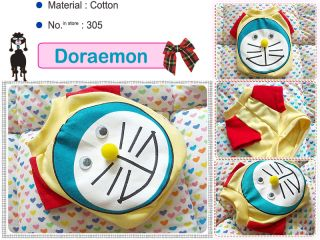 Small Dog Clothes Apparel Doraemon Costume T Shirts 305