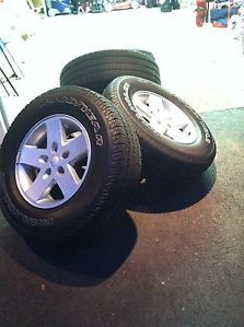 Goodyear Wrangler SR A Tires Wheels from 2008 Jeep Wrangler