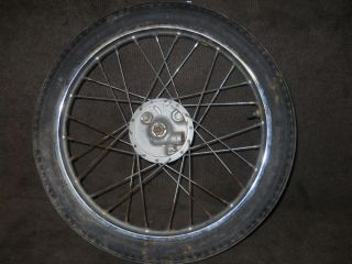 '79 '87 Yamaha Qt 50 Front Rim Wheel Brake Drum Tire Moped Scooter QT50
