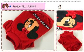Dog Cat Clothes Shirts Minnie Printing Tops A318