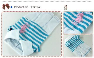 Dog Cat Clothes Skirts Polo Embriodered Dresses E301